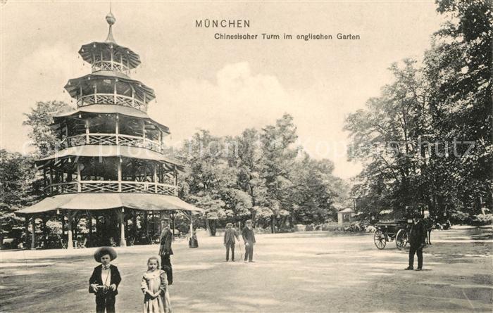 Ansichtskarte München Englischer Garten - Chinesischer Turm 1897 Nr ...