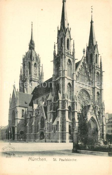 AK / Ansichtskarte Muenchen Sankt Paulskirche Kat. Muenchen