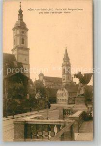 AK / Ansichtskarte Sendling Muenchen Margarethenkirche Sendlinger Kirche