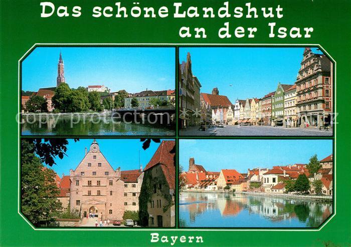 AK / Ansichtskarte Landshut Isar Isar Bruecke Kirche Altstadt  Kat. Landshut