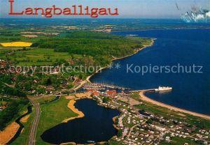 AK / Ansichtskarte Langballigau Hafen Flensburger Foerde Fliegeraufnahme Kat. Langballig