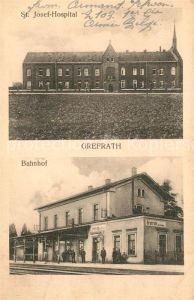 AK / Ansichtskarte Grefrath Niederrhein St. Josef Hospital Bahnhof  Kat. Grefrath