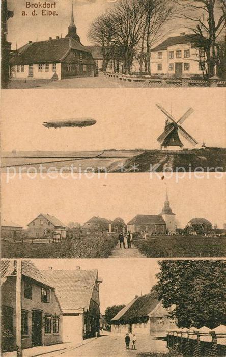 AK / Ansichtskarte Brokdorf Holstein Strassenansichten Zeppelin  Kat. Brokdorf