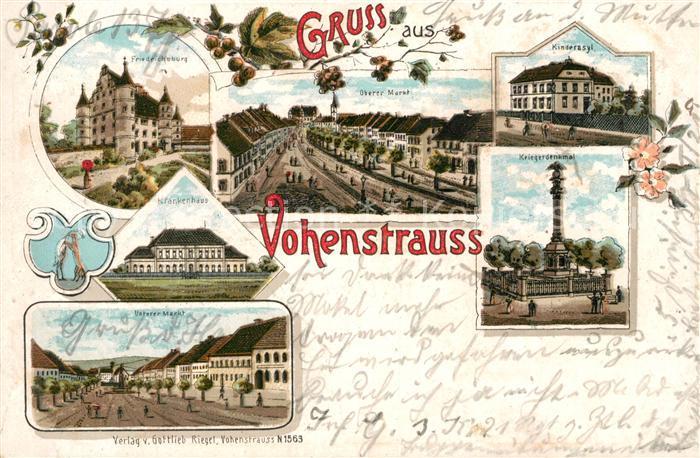 AK / Ansichtskarte Vohenstrauss Kinderasyl Krankenhaus Friedrichsburg Litho  Kat. Vohenstrauss