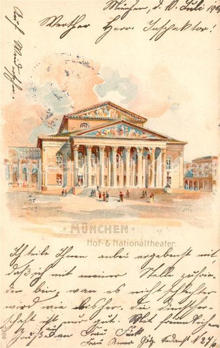 AK / Ansichtskarte Muenchen Hof Theater National Theater Kat. Muenchen
