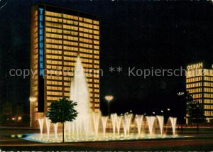 AK / Ansichtskarte Berlin Ernst Reuter Platz mit Springbrunnen Hochhaus Nachtaufnahme Kat. Berlin