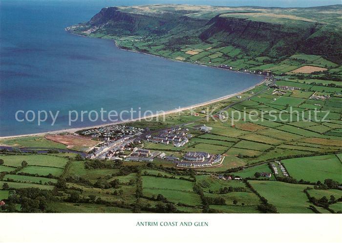 AK / Ansichtskarte Antrim Coast and Glen aerial view Kat. Antrim