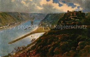 AK / Ansichtskarte St Goar Ruine Rheinfels mit St Goarshausen Kat. Sankt Goar