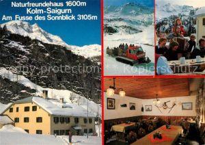 AK / Ansichtskarte Rauris Naturfreundehaus Kolm Saigurn am Sonnblick Wintersportplatz Alpen Schneekatze Pistenraupe Kat. Rauris