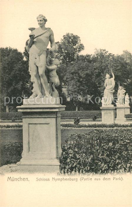 AK / Ansichtskarte Muenchen Schloss Nymphenburg Parkpartie Kat. Muenchen
