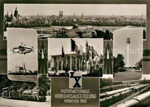AK / Ansichtskarte Muenchen Panorama Internationale Verkehrsausstellung 1965 Kat. Muenchen