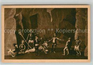 AK / Ansichtskarte Muenchen Marionettentheater Fausts Hoellenfahrt Kat. Muenchen