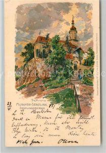 AK / Ansichtskarte Sendling Muenchen Sendlinger Kirche Kuenstler Fritz Bergem