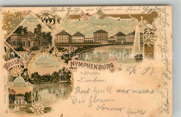 AK / Ansichtskarte Nymphenburg Schloss Magdalenenkapelle Apollotempel  Kat. Muenchen