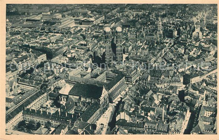 AK / Ansichtskarte Muenchen Fliegeraufnahme Altstadt Frauenkirche Luft Hansa Kat. Muenchen