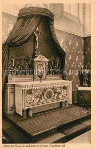 AK / Ansichtskarte Fuerstenried Altar der Kapelle Exerzitienhaus Kat. Muenchen