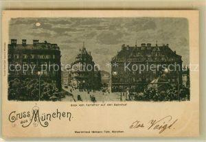 AK / Ansichtskarte Muenchen Blick vom Karlsthor auf den Bahnhof Kat. Muenchen