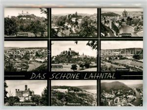 AK / Ansichtskarte Lahntal Braunfels Weilburg Limburg Gleiberg Nassau Balduinstein Schloss Kat. Lahntal