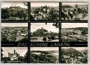 AK / Ansichtskarte Lahntal Braunfels Limburg Schloss Schaumburg Gleiberg Bad Nassau Kat. Lahntal