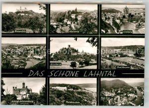 AK / Ansichtskarte Lahntal Braunfels Limburg Weilburg Bad Nassau Gleiberg Schloss Schaumburg Kat. Lahntal