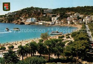 AK / Ansichtskarte San Feliu de Guixols La Conca Strand Promenade Palmen Kat. Baix Emporda
