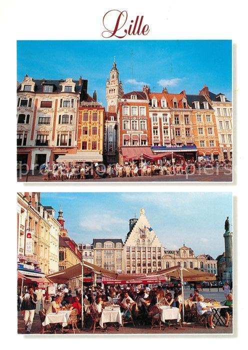 AK / Ansichtskarte Lille Nord Facades typiques Place du General de Gaulle Kat. Lille