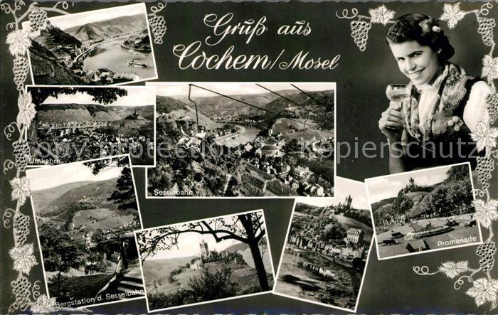 AK / Ansichtskarte Cochem Mosel Bergstation Sesselbahn Promenade Kat. Cochem