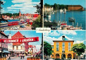 AK / Ansichtskarte Sonderborg Udsigt mod Chr Xs Bro Havnen Gagaden Perlegade Radhuset Kat. Sonderborg