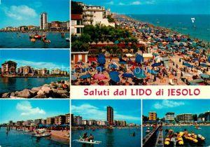 AK / Ansichtskarte Jesolo Saluti dal Lido Spiaggia Strand
