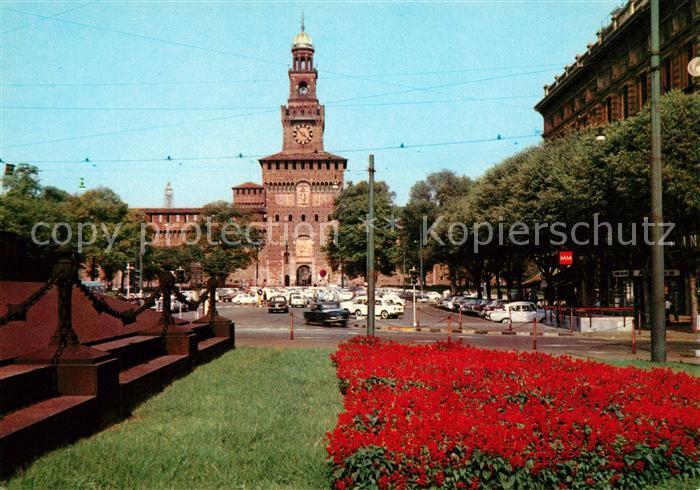 AK / Ansichtskarte Milano Castello Sforzesco Schloss Kat. Italien