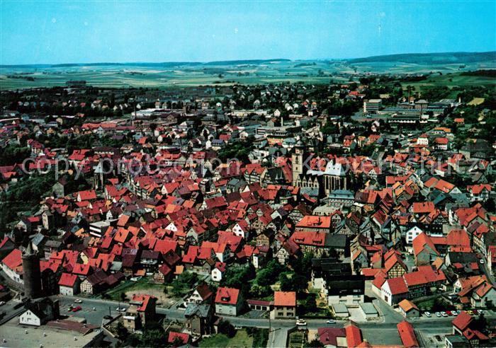 AK / Ansichtskarte Alsfeld Fliegeraufnahme Altstadt Kirche Kat. Alsfeld