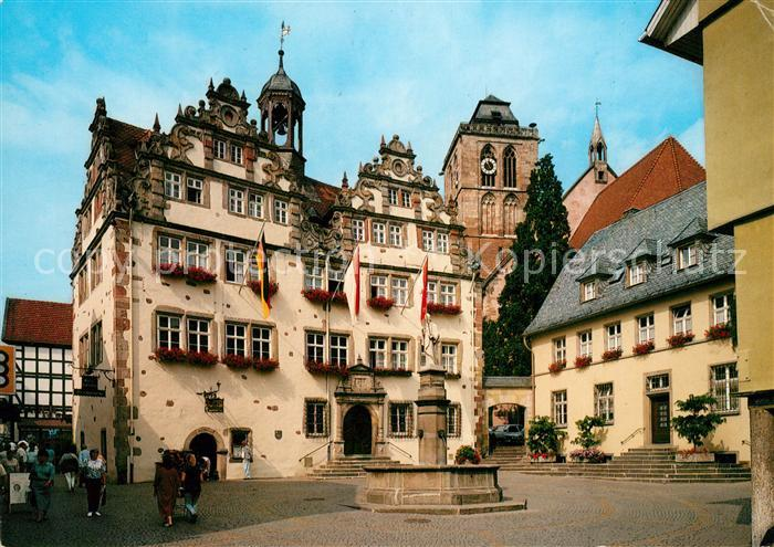 bad hersfeld rathaus kat bad hersfeld nr kn65302 oldthing ansichtskarten deutschland. Black Bedroom Furniture Sets. Home Design Ideas