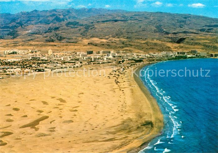Playa Del Ingles Gran Canaria Fliegeraufnahme Strand