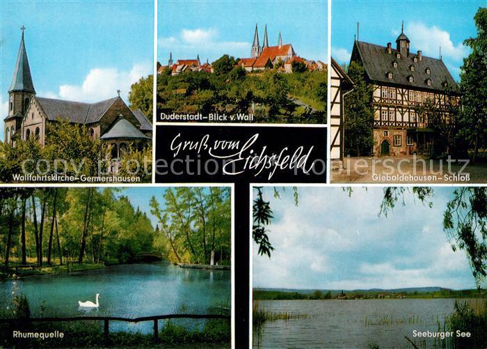Eichsfeld Duderstadt Wallfahrtskirche Germershausen Schloss Rhumequelle Kat. Duderstadt