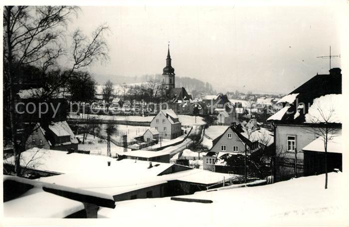AK / Ansichtskarte Bockau Erzgebirgskreis Winterlandschaft Kirche Kat. Bockau