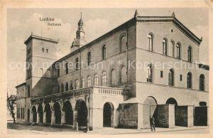 AK / Ansichtskarte Luckau Niederlausitz Rathaus Kat. Luckau Niederlausitz
