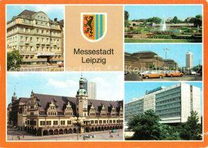 AK / Ansichtskarte Leipzig Interhotel International Altes Rathaus Deutsche Hochschule fuer Koerperkultur Hauptbahnhof Interhotel Stadt Leipzig Kat. Leipzig