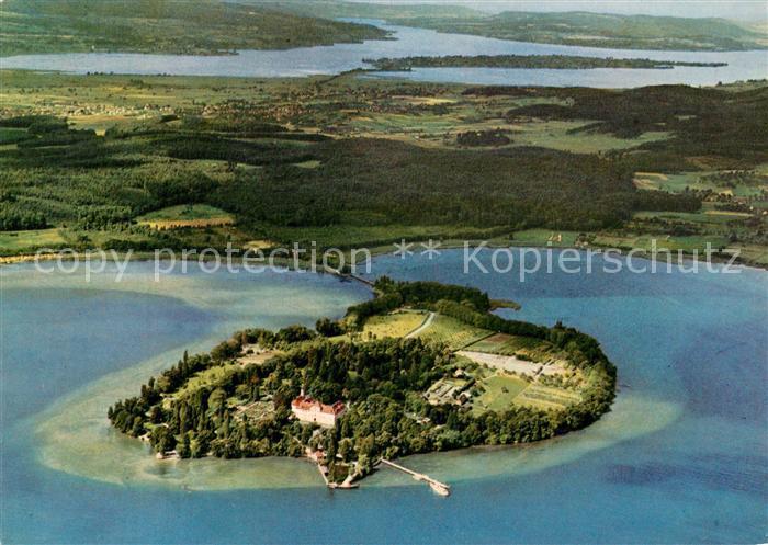 AK / Ansichtskarte Insel Mainau Insel Reichenau Untersee Ausfluss des Rheins Fliegeraufnahme Kat. Konstanz Bodensee