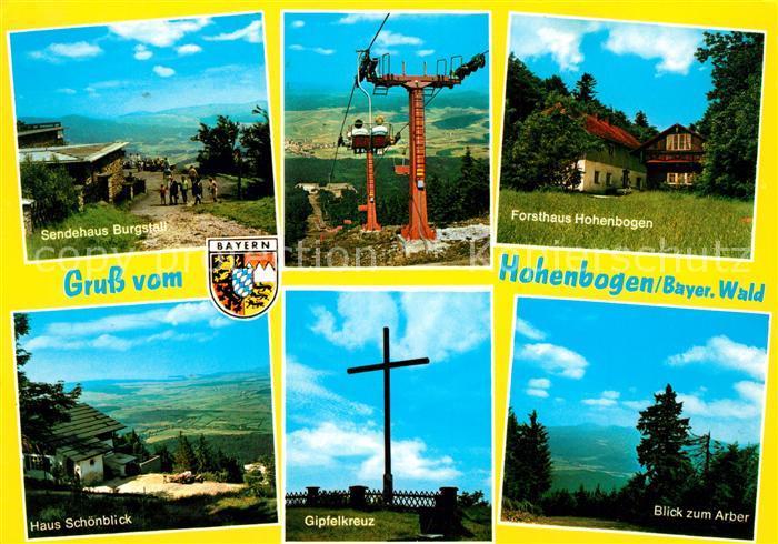 AK / Ansichtskarte Bayerischer Wald Sendehaus Burgstall Forsthaus Hohenbogen Haus Schoenblick Arber