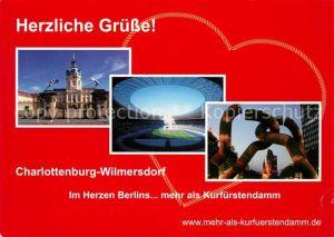 AK / Ansichtskarte Berlin Charlottenburg Wilmersdorf Schloss Olympiastadion Skulptur Berlin  Kat. Berlin