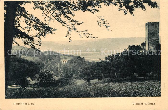AK / Ansichtskarte Greene Kreiensen Viaduct und Burg Kat. Kreiensen