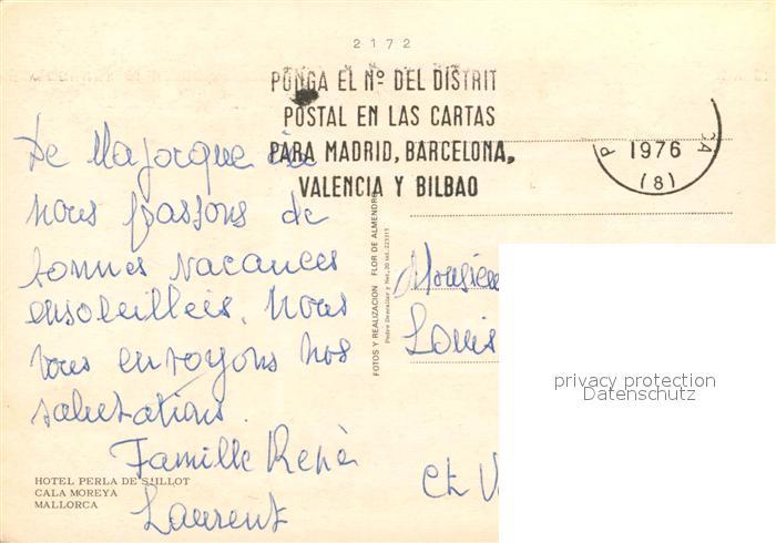 S Illot Mallorca Karte.Ak Ansichtskarte Cala Moreya Hotel Perla De S Illot Strand Kat Mallorca Islas Baleares