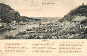 AK / Ansichtskarte Porta Westfalica Panorama Weserlied Kat. Porta Westfalica