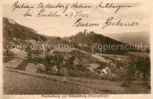 AK / Ansichtskarte Rinteln Paschenburg und Schaumburg Kat. Rinteln