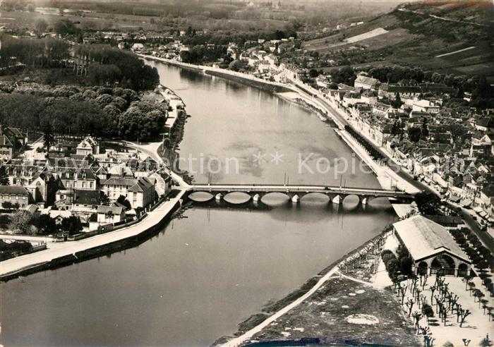 AK / Ansichtskarte Joigny Yonne En avion sur l Yonne Kat. Joigny