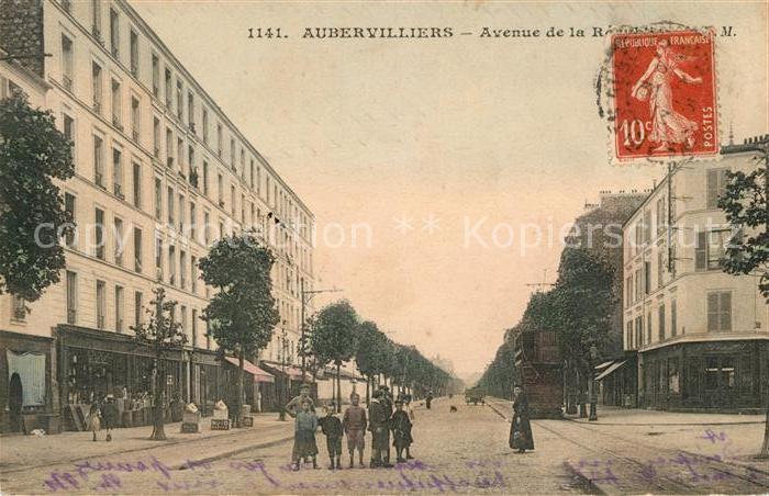 AK / Ansichtskarte Aubervilliers Avenue Republic Kat. Aubervilliers