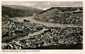 AK / Ansichtskarte Bingen Rhein Blick vom Rochusberg auf Bingerbrueck Kat. Bingen am Rhein