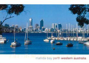 AK / Ansichtskarte Perth Western Australia Segelhafen Matilda Bay Kat. Perth