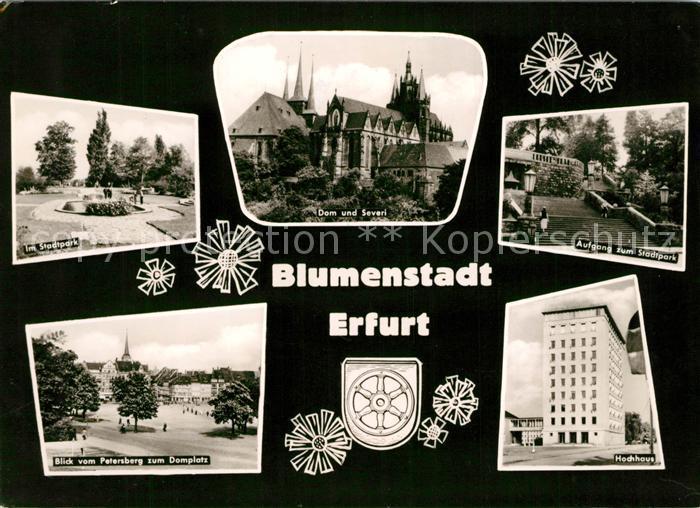 AK / Ansichtskarte Erfurt Stadtpark Dom Severi Petersberg Domplatz Kat. Erfurt
