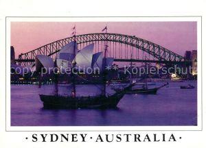 AK / Ansichtskarte Sydney New South Wales Opera First Fleet at Farm Cove Kat. Sydney